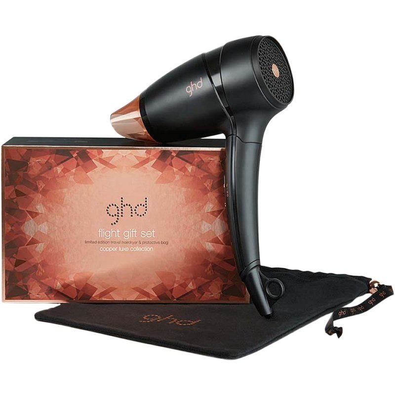 GHD Copper Luxe Collection Air Hair Dryer Flight Gift Set