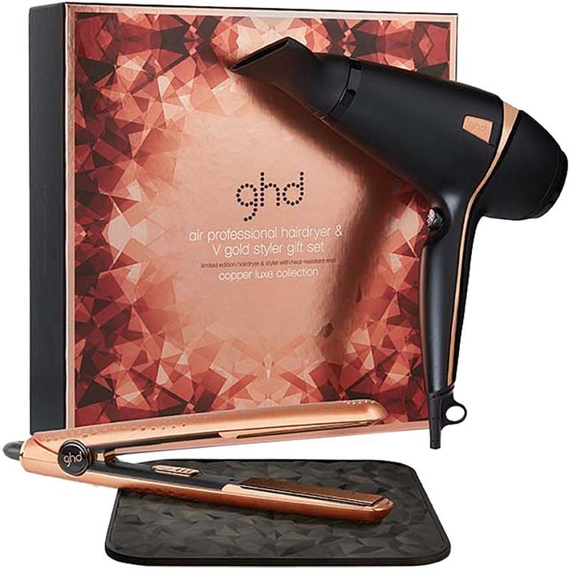 GHD Copper Luxe Collection Air Hair Dryer V Gold Styler