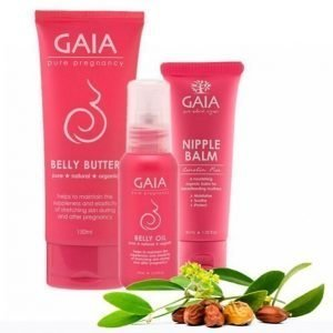 Gaia Nipplebalm Belly Oil Belly Butter Vartalonhoitosetti
