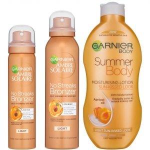 Garnier Ambre Solaire Summer Body And No Streaks Bronzer Self Tan Kit