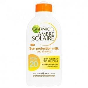 Garnier Ambre Solaire Sun Protection Milk Spf 20 Aurinkoemulsio 200 Ml
