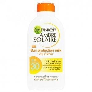 Garnier Ambre Solaire Sun Protection Milk Spf 30 Aurinkoemulsio 200 Ml