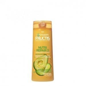 Garnier Fructis Nutri Repair 3 Shampoo Kuiville Ja Vaurioituneille Hiuksille 250 Ml