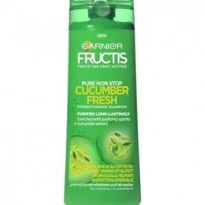 Garnier Fructis Pure Non Stop Cucumber Fresh Shampoo Normaaleille Rasvoittuville Hiuksille 250 Ml