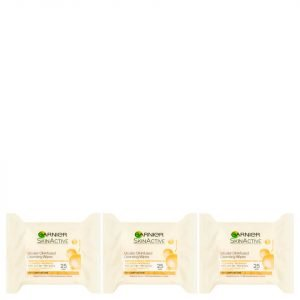 Garnier Micellar Oil-Infused Cleansing Face Wipes 25 Wipes 3 Pack