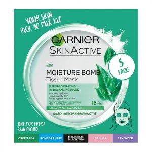 Garnier Moisture Bomb Hydrating Sheet Masks Selection Box X 5