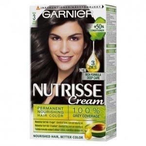 Garnier Nutrisse 3 Syvä Tummanruskea Kestoväri