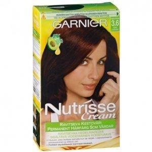 Garnier Nutrisse 3.6 Tumma Punaruskea Kestoväri