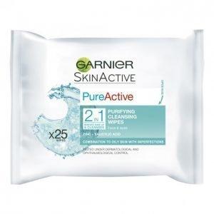 Garnier Pure Active 2in1 Puhdistusliina 25 Kpl