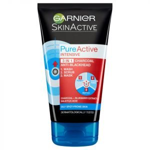 Garnier Pure Active Intensive 3 In 1 Anti-Blackhead Charcoal Wash