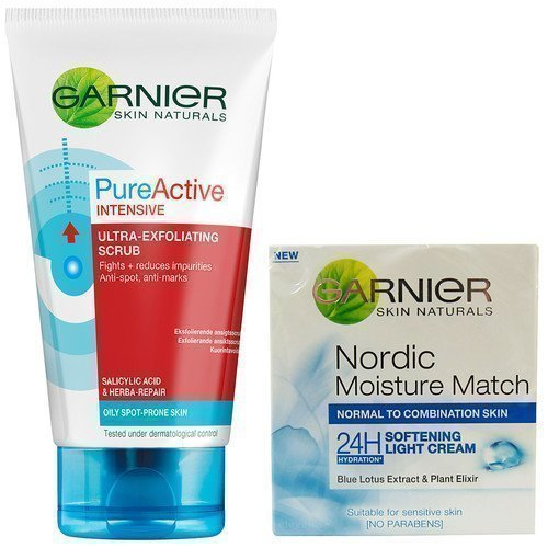 Garnier Pure Active Intensive Cleansing Scrub & Softening Light Cream