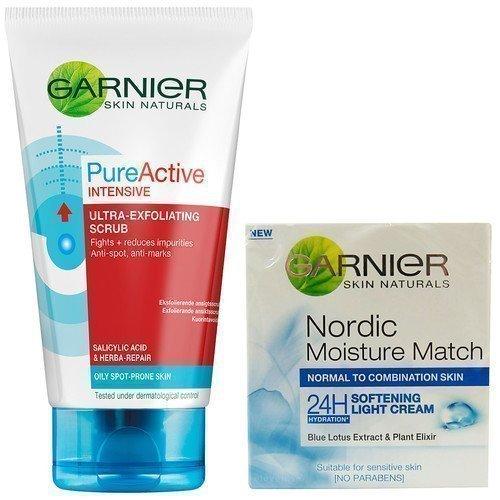 Garnier Pure Active Intensive Cleansing Scrub & Softening Light Cream