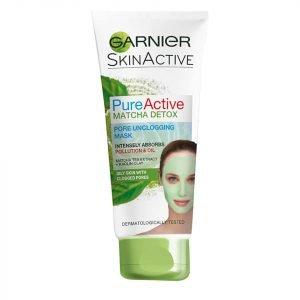 Garnier Pure Active Matcha Detox Pore Unclogging Face Mask 100 Ml