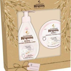 Garnier Respons Body Oat Cream Lahjapakkaus 2016