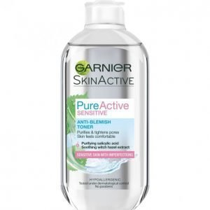 Garnier Skin Active Pure Active Sensitive Kasvovesi 200 Ml