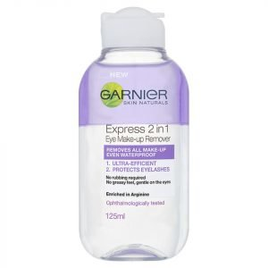 Garnier Skin Naturals 2-In-1 Eye Make-Up Remover 125 Ml