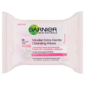 Garnier Skin Naturals Micellar Extra-Gentle Cleansing Wipes 25 Pack