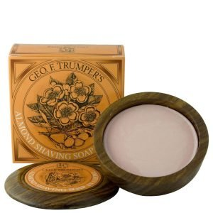 Geo. F. Trumper Almond Oil Hard Shaving Soap Wooden Bowl 80 G