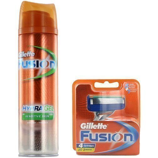 Gillette Fusion Duo 4 Pack Hydragel Sensitive 200ml