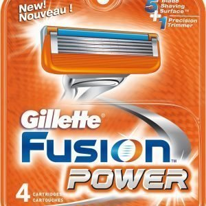 Gillette Fusion Power Terät 4 Kpl
