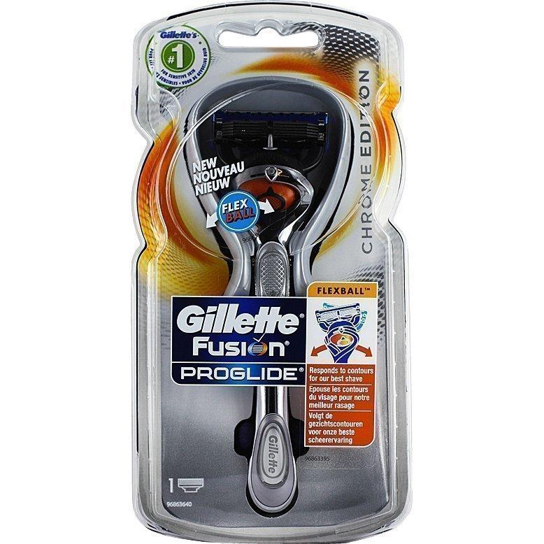 Gillette Fusion ProGlide Flexball Razor Chrome 1 Blade