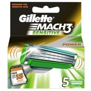 Gillette Mach 3 Sensitive Power 5-Pack