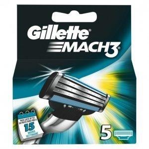 Gillette Mach3 Vaihtoterä 5 Kpl