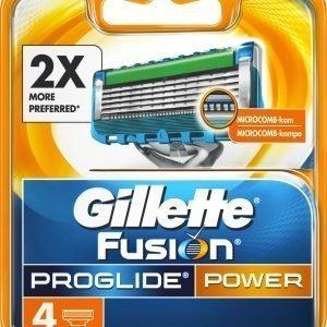 Gillette Proglide Power Terät 4 Kpl