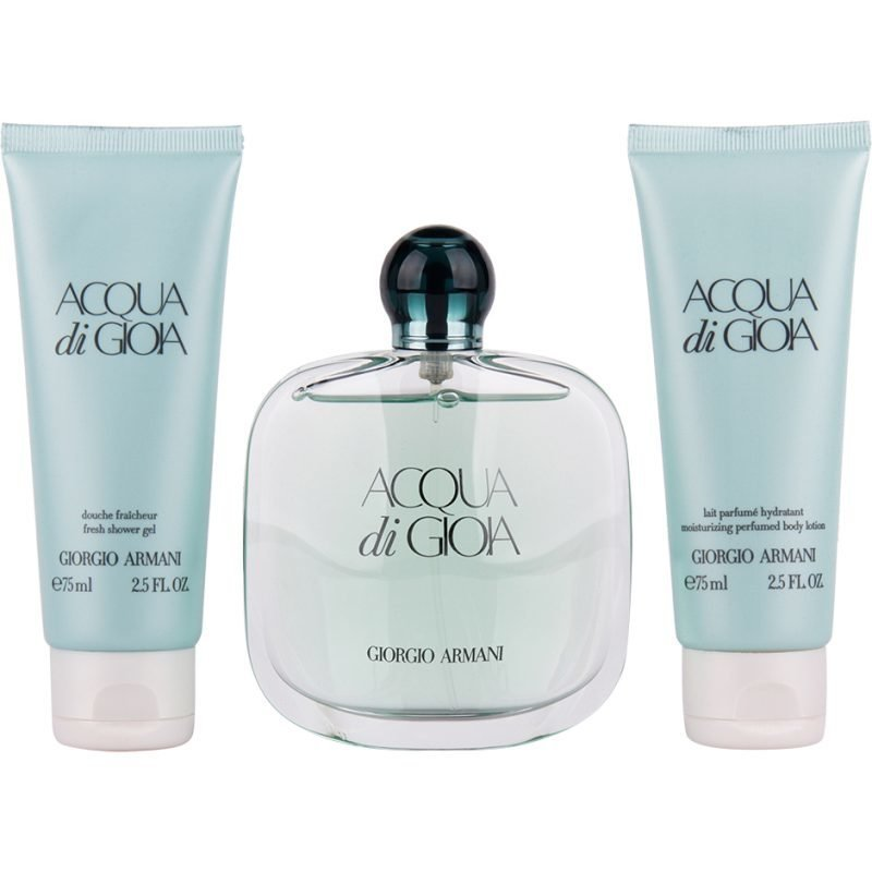 Giorgio Armani Acqua di Gioia EdP 100ml Body Lotion 75ml Shower Gel 75ml