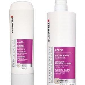Goldwell Dualsenses Color Fade Stop Shampoo 500 ml + Color Detangling Hoitoaine 200 ml