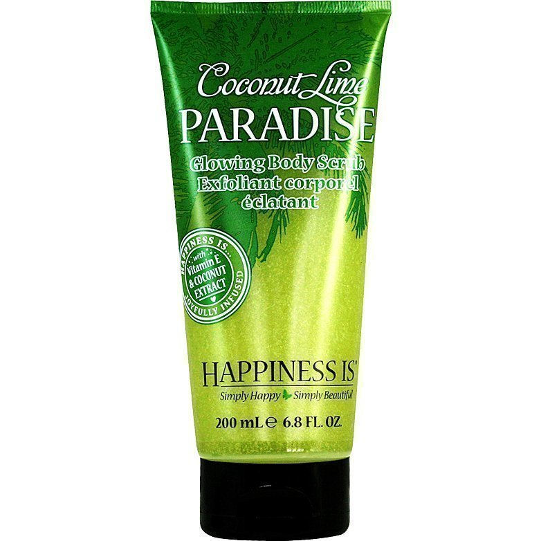 Happiness Is Coconut Lime Paradise Glowing Body Scrub 200ml