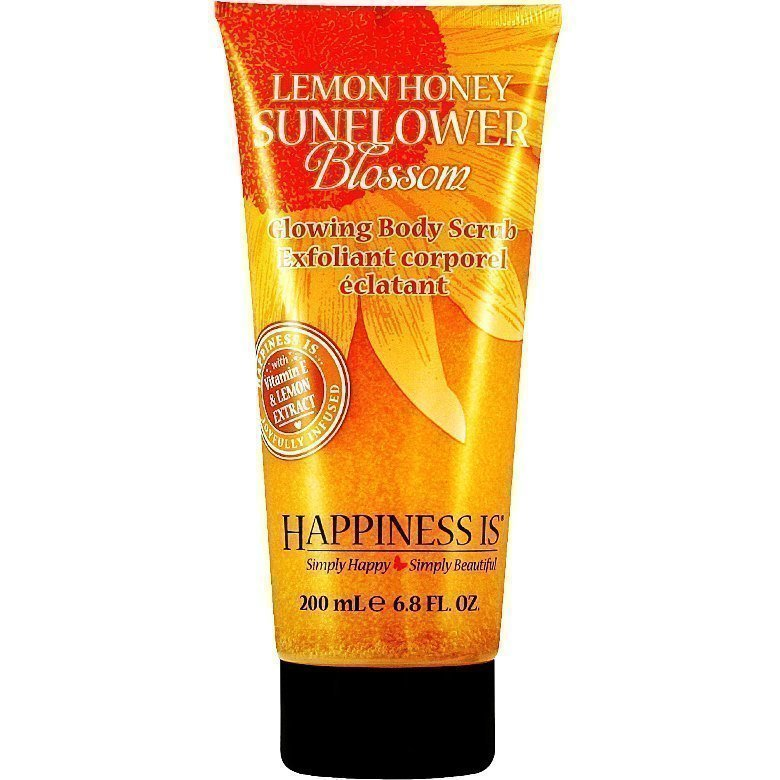 Happiness Is Lemon Honey Sunflower Blossom Glowing Body Scrub 200ml