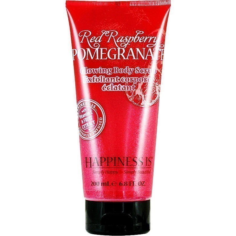 Happiness Is Red Raspberry Pomegranate Glowing Body Scrub 200ml