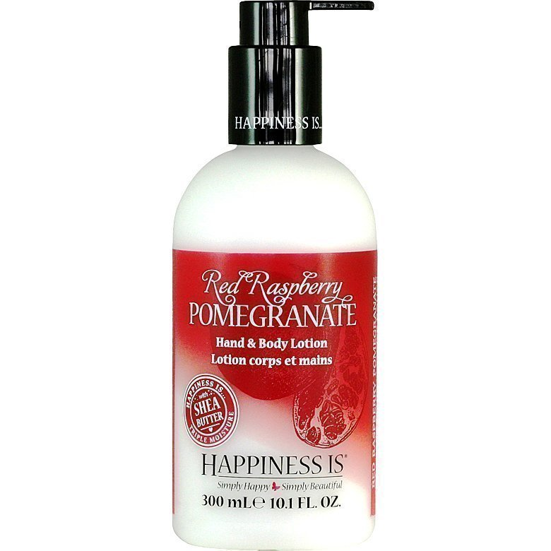 Happiness Is Red Raspberry Pomegranate Hand & Body Lotion 300ml