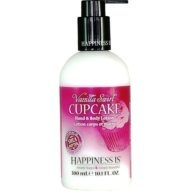 Happiness Is Vanilla Swirl Cupcake Hand & Body Lotion 300ml