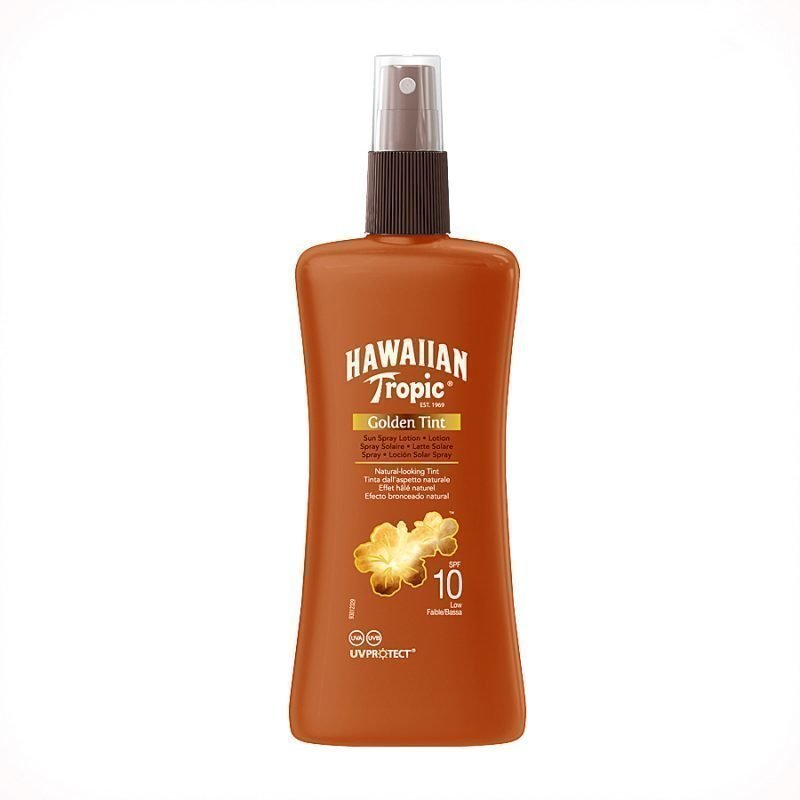 Hawaiian Tropic Golden Tint Spray Lotion SPF10 200ml