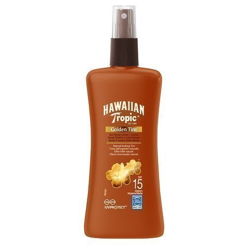 Hawaiian Tropic Golden Tint Sun Spray Lotion SPF 15