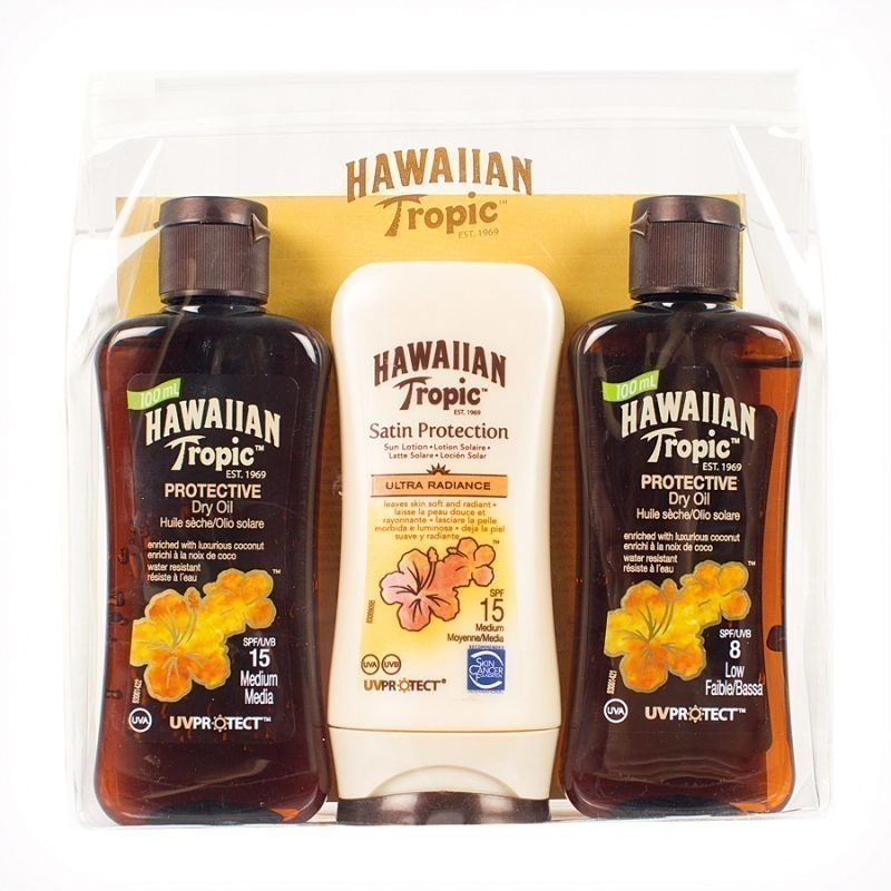Hawaiian Tropic Hawaiian Tropic Travel Kit 3x100ml