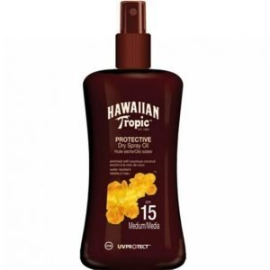Hawaiian Tropic Protect. Dry Spray Oil Spf 15 Aurinkovoide