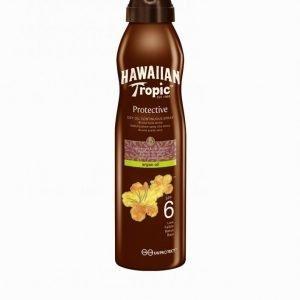 Hawaiian Tropic Protective Dry Argan Oil Spray Spf 6 180 Ml Aurinkosuoja