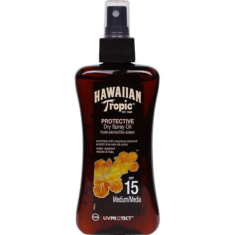 Hawaiian Tropic Protective Dry Spray Oil SPF15 200ml