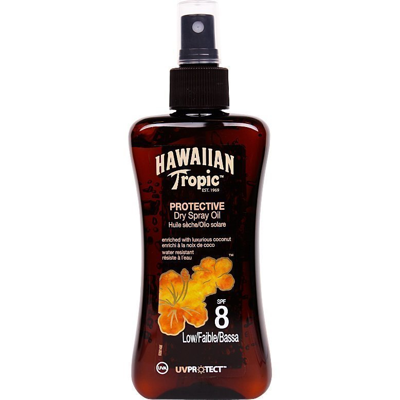 Hawaiian Tropic Protective Dry Spray Oil SPF8 200ml