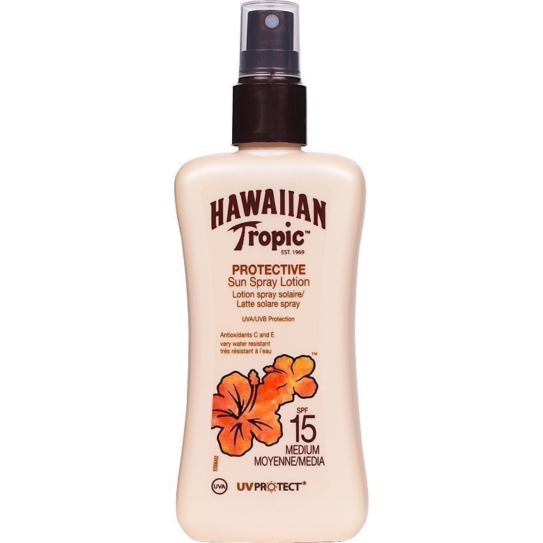 Hawaiian Tropic Protective Sun Spray Lotion SPF15 200ml