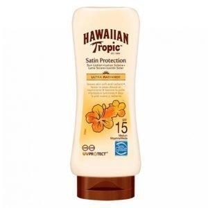 Hawaiian Tropic Satin Protection Sun Lotion Spf15 180 Ml Aurinkovoide