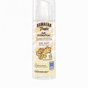 Hawaiian Tropic Silk Hydration Air Soft Pump Sun Lotion Spf 15 150 Ml Aurinkosuoja Valkoinen