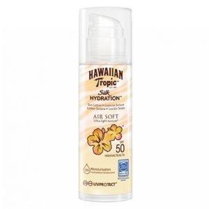 Hawaiian Tropic Silk Hydration Air Soft Pump Sun Lotion Spf 50 150 Ml Aurinkovoide