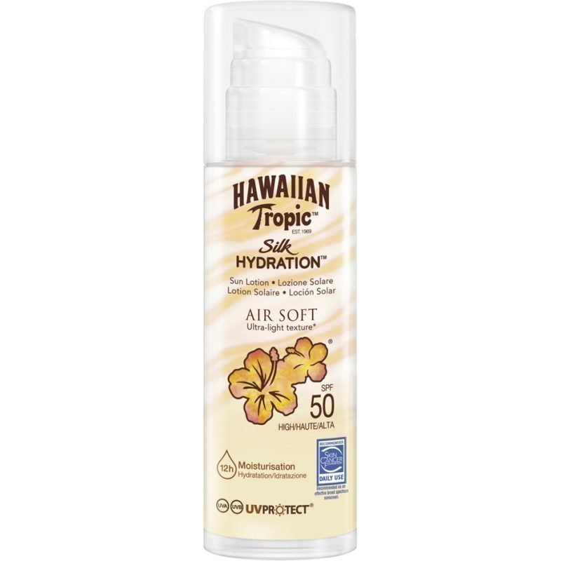 Hawaiian Tropic Silk Hydration Air Soft Sun Lotion (Pump) SPF50 150ml