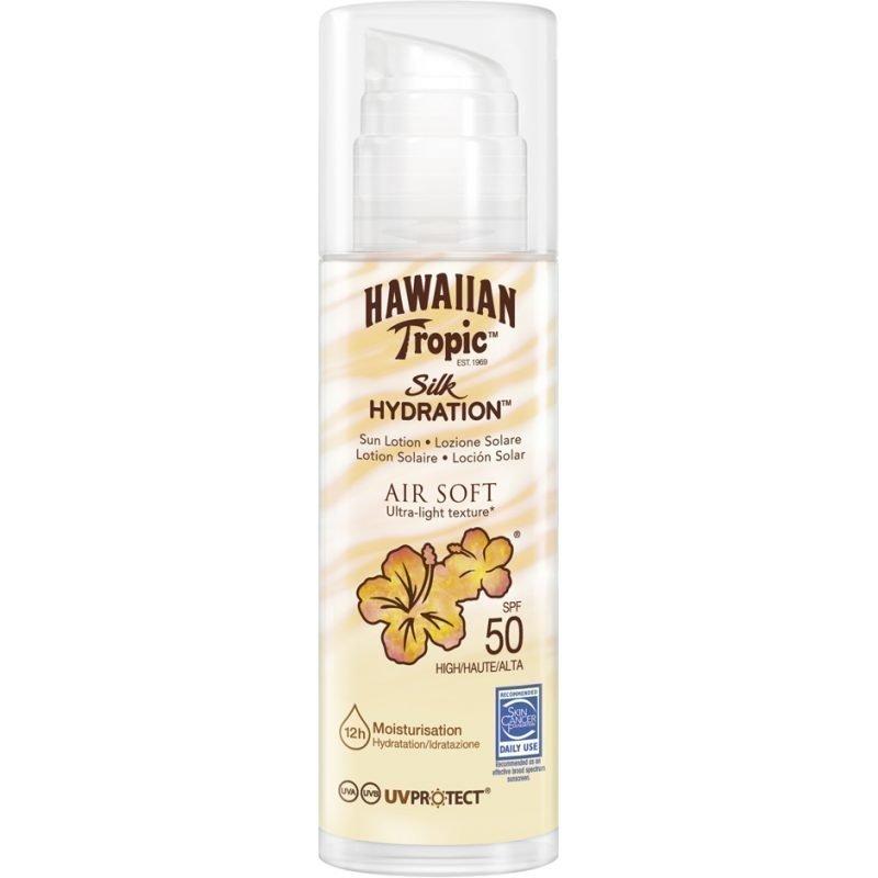 Hawaiian Tropic Silk Hydration Air Soft Sun Lotion (Pump) SPF50 150ml