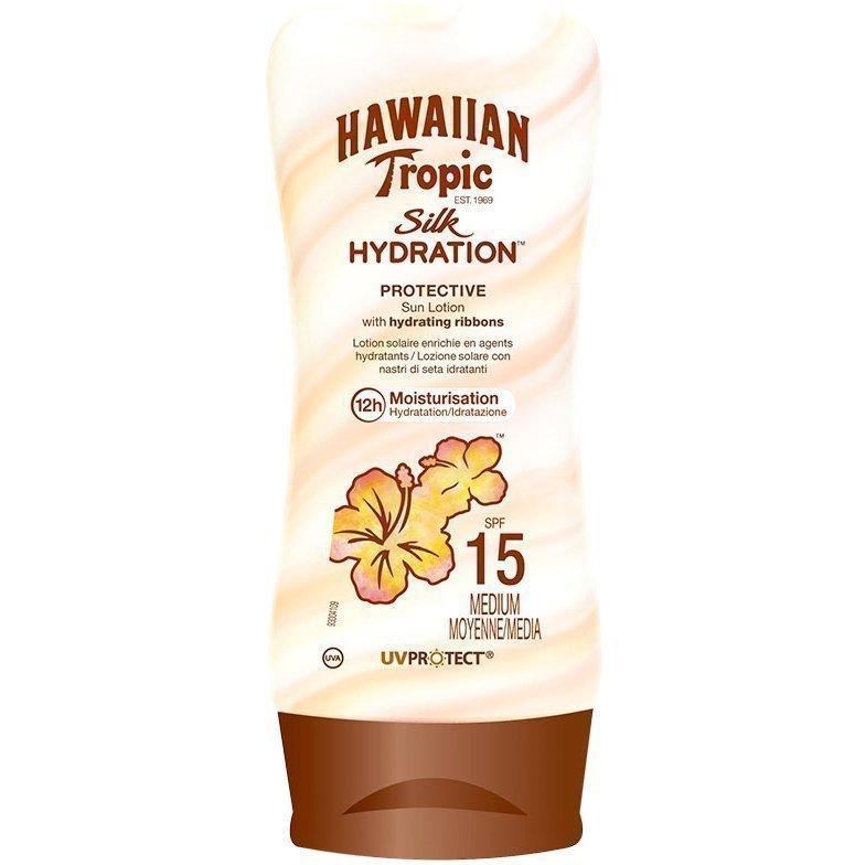 Hawaiian Tropic Silk Hydration Protective Sun Lotion SPF15 180ml