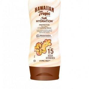 Hawaiian Tropic Silk Hydration Protective Sun Lotion Spf 15 180 Ml Aurinkosuoja Valkoinen